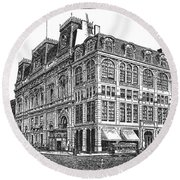 New York: Theater, 1869 Round Beach Towel