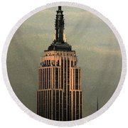New York Watercolor 1 Round Beach Towel
