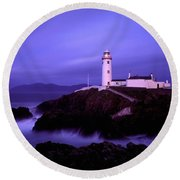 Newcastle, Co Down, Ireland Lighthouse Round Beach Towel