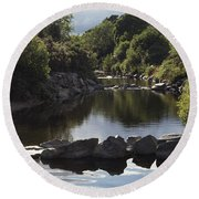 Newcastle, Shimna River, Co Down Round Beach Towel
