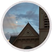 Newman United Methodist And Moon Round Beach Towel