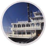 Newport Harbor Nautical Museum - 1 Round Beach Towel
