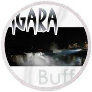 Niagara At Night Round Beach Towel