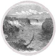 Niagara Falls, 1849 Round Beach Towel