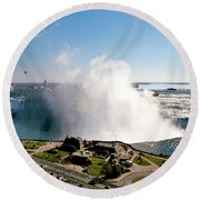 Niagara Falls From Above Round Beach Towel