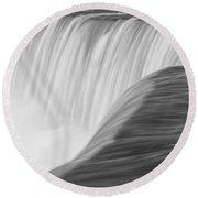 Niagara Horseshoe Falls Round Beach Towel