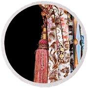 Nice Curtain Round Beach Towel by Tom Gowanlock