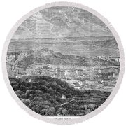 Nice, France, 1863 Round Beach Towel