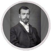 Nicholas II From Russia Round Beach Towel