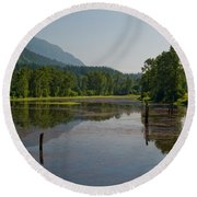 Nicomen Slough 2 Round Beach Towel