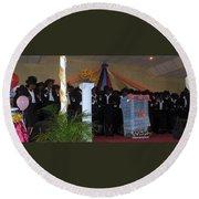 Nigerian Church Choir Round Beach Towel