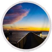 Night Approaches Round Beach Towel