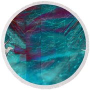 Night Birds Round Beach Towel