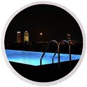 Night Swim Anyone Round Beach Towel