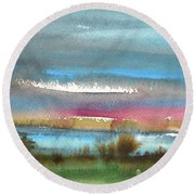Nightfall 27 Round Beach Towel
