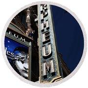 Nightfall At The Orpheum - San Francisco California - 5d17991 Round Beach Towel