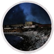 Nightfall Over Hard Time - San Quentin California State Prison - 5d18454 Round Beach Towel