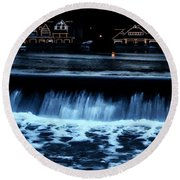 Nighttime At Boathouse Row Round Beach Towel