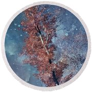 Nighty Tree Round Beach Towel