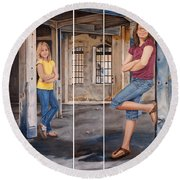 Nina And Francis 2 Round Beach Towel
