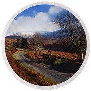 Nire Valley Drive, County Waterford Round Beach Towel