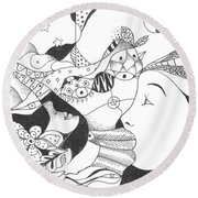 No Ordinary Dream Round Beach Towel