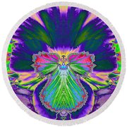 No Pansy Here Round Beach Towel