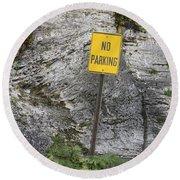No Parking Round Beach Towel