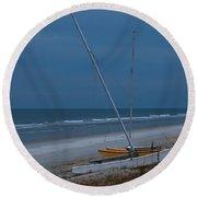 No Sailing Today Round Beach Towel