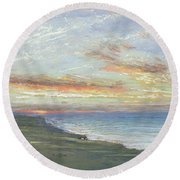 Norfolk Coast Round Beach Towel