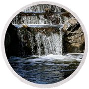 Normandale Falls Round Beach Towel
