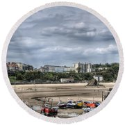 North Beach From Tenby Harbour Round Beach Towel
