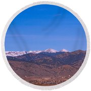 North Boulder County Colorado Full Moon View Round Beach Towel