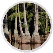 North Carolina - Lake Round Beach Towel