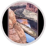 North Side Of Horseshoe Bend Round Beach Towel