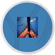 North Star Bar In Philadelphia Round Beach Towel
