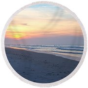 North Topsail Beach Serenity  Round Beach Towel