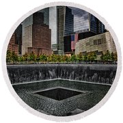 North Tower Memorial Round Beach Towel