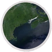Northeast United States And Canada Round Beach Towel