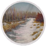 Northern Alberta Vista Round Beach Towel