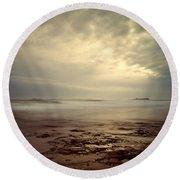 Northumberland Coast Round Beach Towel