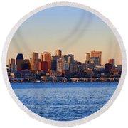 Northwest Jewel - Seattle Skyline Cityscape Round Beach Towel