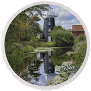 Norton Marsh Mill Norfolk Round Beach Towel