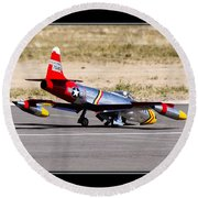Nose Gear Trouble Round Beach Towel