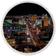 Not Everything Stays In Vegas Round Beach Towel