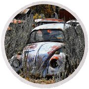 Not Herbie The Love Bug Round Beach Towel