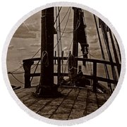 Notorious The Pirate Ship 4 Round Beach Towel