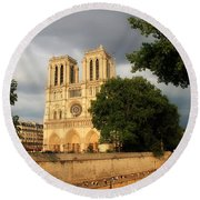Notre Dame De Paris 2 Round Beach Towel