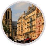 Notre Dame De Paris 3 Round Beach Towel