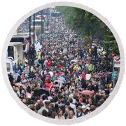Notting Hill Carnival Round Beach Towel